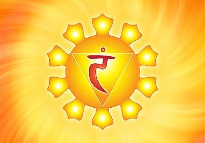 3) The solar plexus chakra or Manipura