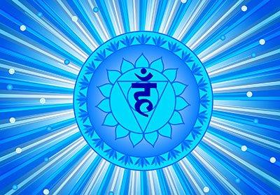 5) The throat chakra or Vishuddha
