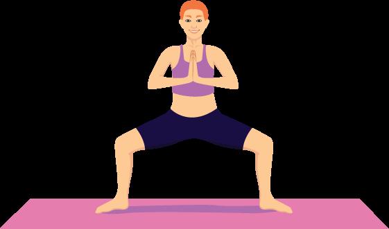 Utkata Konasana (position of the Goddess)